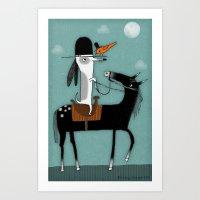 HITCHHIKER Art Print