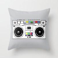 1 kHz #7 Throw Pillow