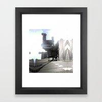 Summer space, smelting selves, simmer shimmers. 10 Framed Art Print
