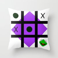 Kermit Der Frosch Throw Pillow