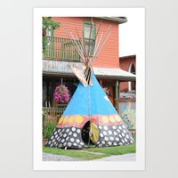 Camping Out Art Print