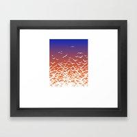 Bird Frenzy At Sunrise Framed Art Print