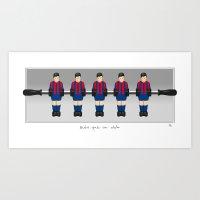 table football - Barcelona Art Print