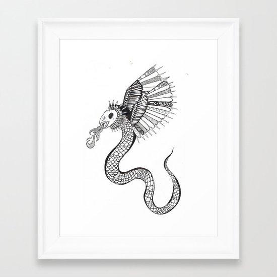 A Monster. Framed Art Print