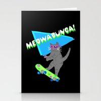 Meowabunga  Stationery Cards