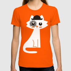 Mark - In Clockwork Oran… Womens Fitted Tee Orange SMALL