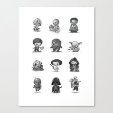 Star Kids Wars Canvas Print