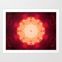 Fire Galaxy Art Print