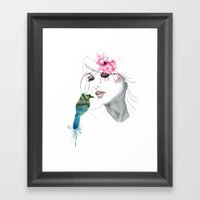 Her Secret*** Framed Art Print