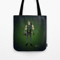 Green Arrow Tote Bag