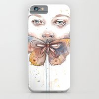 Butterfly, Watercolor iPhone 6 Slim Case