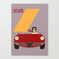 Drive - Live and Let Drive Canvas Print