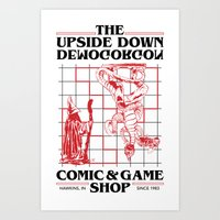 The Upside Down Demogorgon - Stranger Things Have Happened Art Print