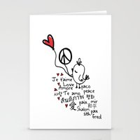 Love & Peace Bird Stationery Cards