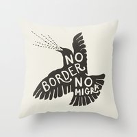 No Border No Migra Throw Pillow