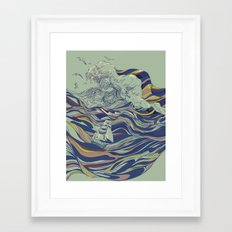 OCEAN AND LOVE Framed Art Print