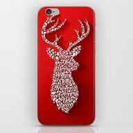 Happy Holidays - Deer iPhone & iPod Skin