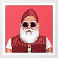 HO HO HO, Hipster Christ… Art Print