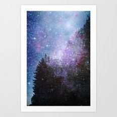 Stars forest..... Cosmic. Art Print