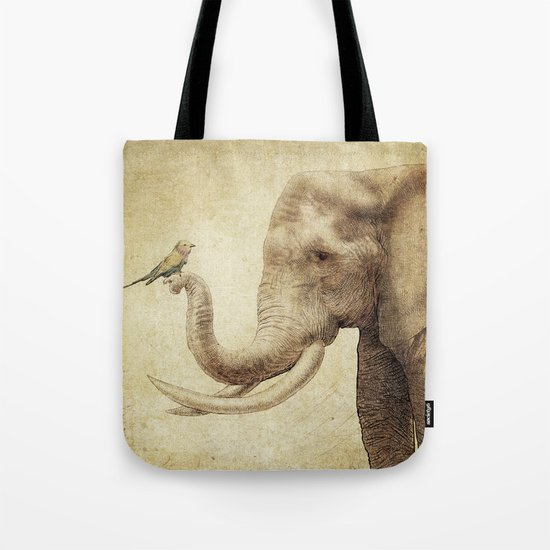 A New Friend (sepia drawing) Tote Bag