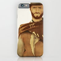 iPhone & iPod Case featuring CLINT EASTWOOD - WESTERN  by Jordi Bosch