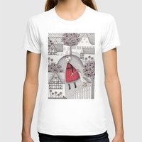 lady gaga T-shirts featuring The Old Village by Judith Clay