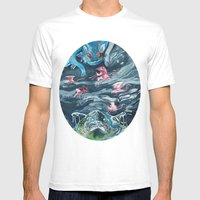 Water Gods Mens Fitted Tee White SMALL