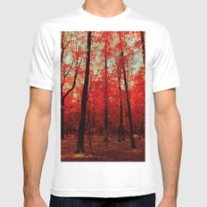 True North White Mens Fitted Tee SMALL