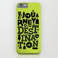 iPhone & iPod Case featuring Green Journey Quote by Inspireuart