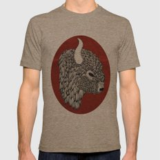 The Buffalo Mens Fitted Tee Tri-Coffee SMALL