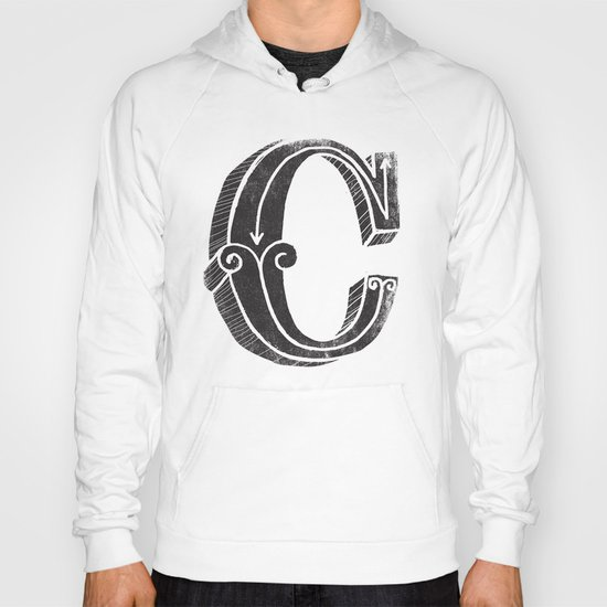 C - the third letter of the alphabet Hoody