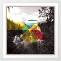 Sojourn series - Lake Mathieson Art Print