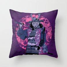 Samurai Kitty Throw Pillow