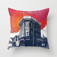Save Detroit Throw Pillow