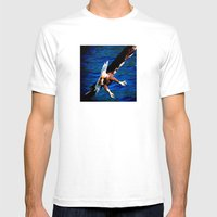 Eagle: The Back Side of Danger Mens Fitted Tee White SMALL