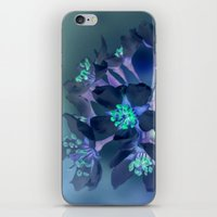 FLOWERS -Blue Blossoms iPhone & iPod Skin