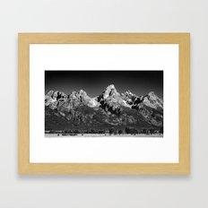 Grant Teton National Park - Mountains Framed Art Print