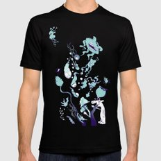 Aquatic Creatures Mens Fitted Tee Black SMALL