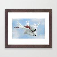Super Puppy Framed Art Print