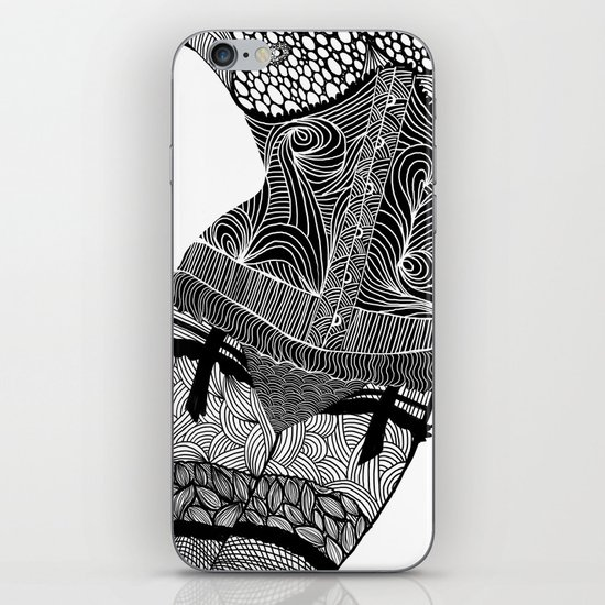 La femme 01 iPhone & iPod Skin