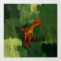 Dilophosaurus Dinosaur All Over Tshirt Canvas Print