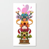Monster´s Totem Canvas Print