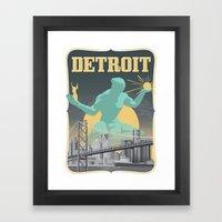 Spirit of Detroit Framed Art Print