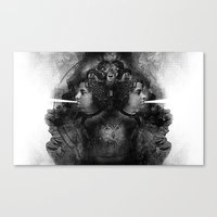 White Noise Canvas Print
