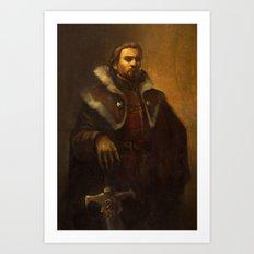 King Alistair Oil Portrait Art Print