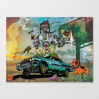 B-Side Low Ride Canvas Print