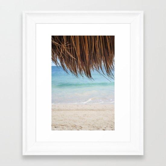Beach Palapa Framed Art Print