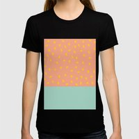 Peach Fuzz and Pit Womens Fitted Tee Black SMALL