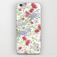 Flowering Meadow - Watercolor iPhone & iPod Skin