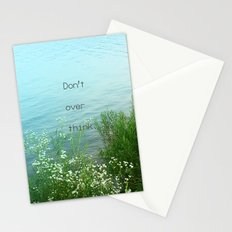 Don't Over Think Stationery Cards